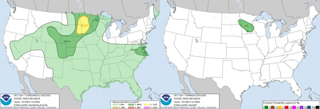 6-12-16 SPC Outlooks